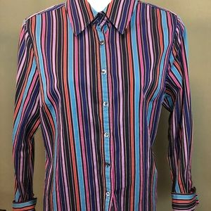Women's Faconnable 100 cotton striped button down